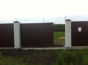 Забор из профнастила в перевалово