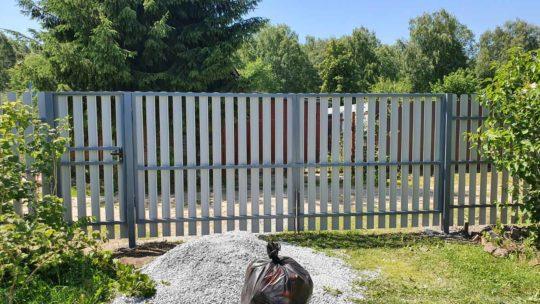 Забор в СНТ Хрустальный