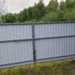 Забор из профнастила в СНТ Вертолет