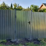 Забор из профнастила СНТ Аккумуляторщик