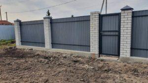 Забор из профнастила Елань