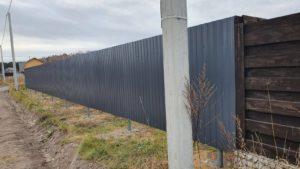 Забор из профнастила пос. Серебряный бор Тюмень