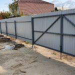 Забор из профнастила в СНТ Рассвет
